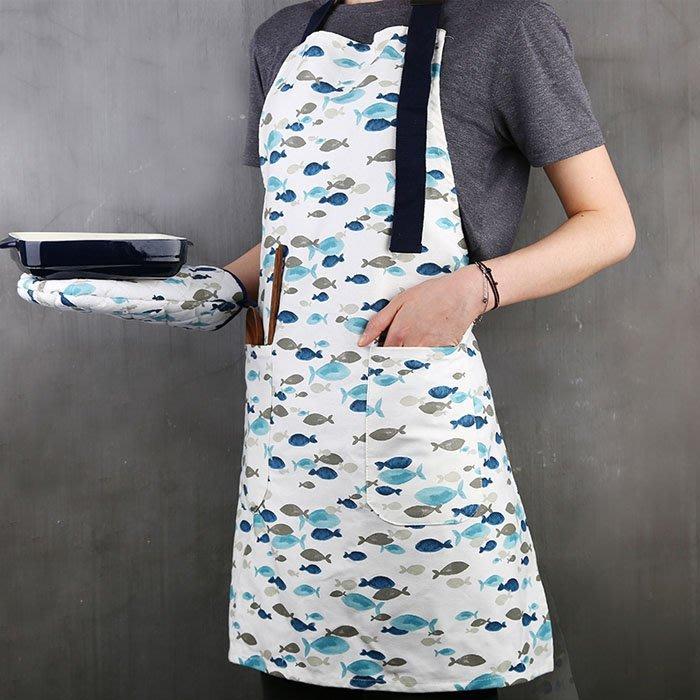 5Cgo【鴿樓】含稅會員有優惠 551320017301 家居圍裙創意北歐簡約套頭帶口袋廚用餐廳咖啡廳奶茶店布藝後系繩裙