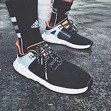 D-BOX  Adidas EQT Support 93/17 Boost CQ2396 三葉草 愛迪達 黑橘黃 慢跑鞋