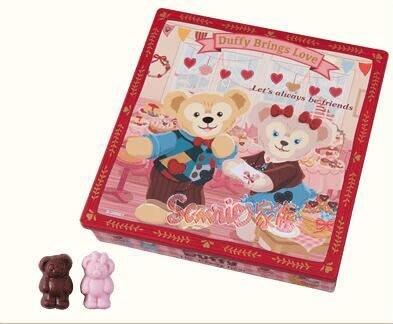 《東京家族》東京海洋迪士尼樂園限定情人節DUFFY達菲熊 雪麗玫 傑拉東尼  巧克力 盒