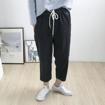 牛仔 褲 寬管 長褲-水洗做舊舒適鬆緊腰女褲子2色73tq29[獨家進口][米蘭精品]