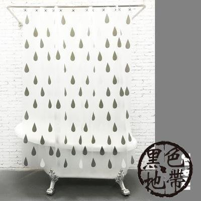 YEAHSHOP 防霉防水加厚浴室簾套裝免安裝淋Y185