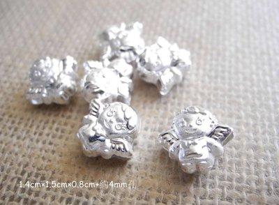 ☆ D.B手創925銀飾批發 ☆ 990純銀 DIY材料 天使 配件 單顆