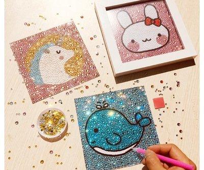 ?石畫 兒童玩具 女孩7-9-12歲女 小學生手工diy制作益智點點畫