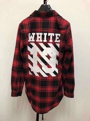 [4real]OFF-WITE 初代羊絨格子襯衫