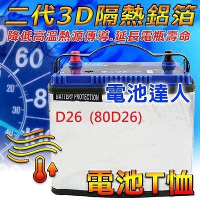 {鋐瑞電池} 豐田 previa 日規 專用 電池 電瓶 電池T恤 隔熱防護衣 100D26L 80D26R S100