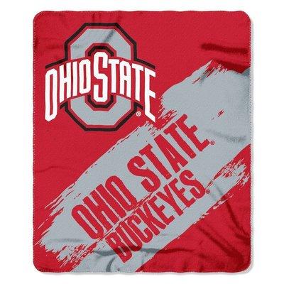 [現貨]美式大學球隊蓋毯 NCAA裝飾毯 俄亥俄州立Ohio Buckeyes七葉樹隊 OSU午睡宿舍交換生日禮物