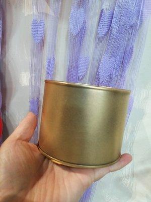 過年--金色鐵桶罐頭//花盆(小)