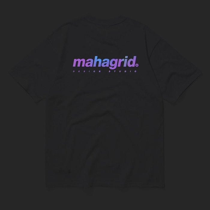 【QUEST】現貨 MAHAGRID MGD - RAINBOW REFLECTIVE LOGO TEE  / 白