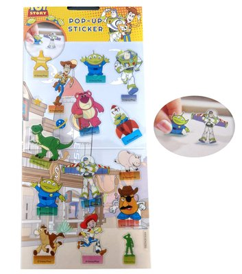 【卡漫迷】 玩具總動員 站立 貼紙 ㊣版 裝飾 螢幕貼 佈置 索引貼 立體 Toy Story 三眼怪 巴斯 熊抱哥