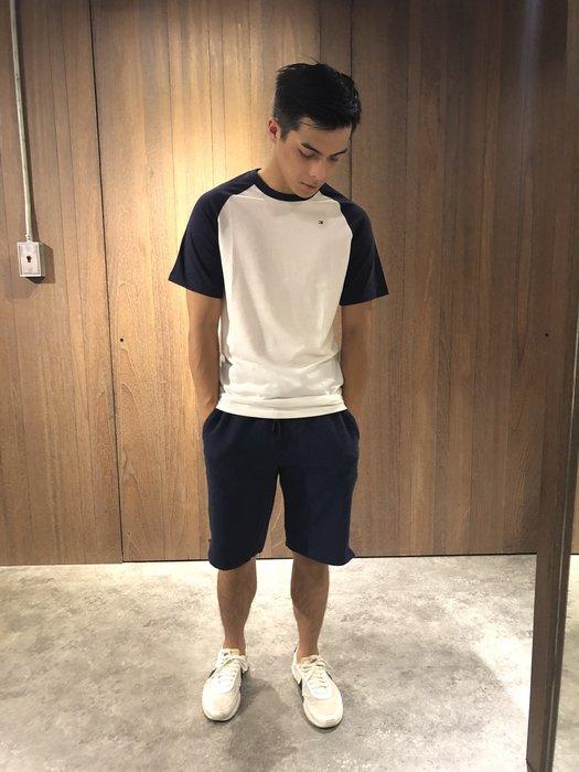 美國百分百【Calvin Klein】短褲 CK 休閒褲 褲子 棉褲 棉質 運動褲 男款 深藍色 S M號 J449