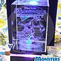 【限定數量 特別景品】SEGA 出品 正版 雷射 水晶 雕刻 怪獸上大學 毛怪 與 大眼怪 (附LED投射台)