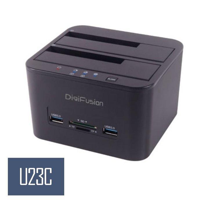 """【嘉義U23C】伽利略 USB3.1 Gen1 2.5""""/3.5""""雙SATA SSD硬碟拷貝機 CRU-015"""