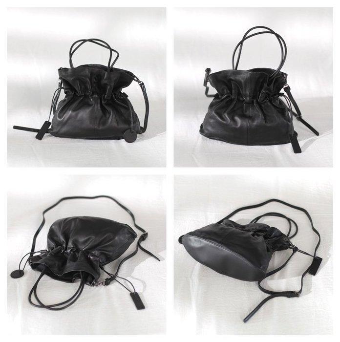 包包女包新款2019軟皮包女斜挎小眾設計時尚復古大容量單肩褶皺