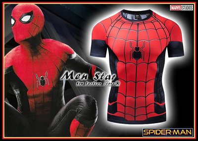 【Men Star】免運費 蜘蛛人 離家日 蜘蛛戰衣 運動衣 自行車服飾 短T T桖 媲美 Dickies SMUDGE