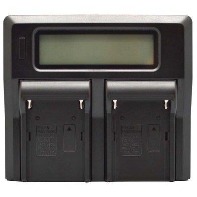 LCD雙槽高速充電器DV用-Panasonic DU14/21
