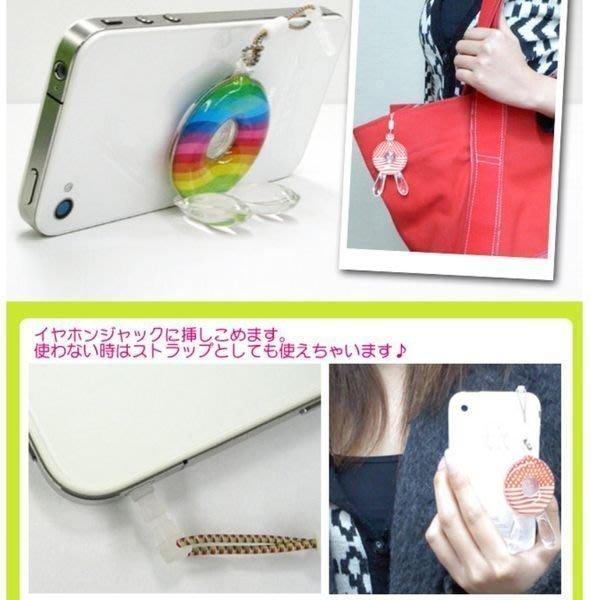 《Greens selection》韓國製兔子造型多用途 手機座 / 耳機塞 / 手機吊飾
