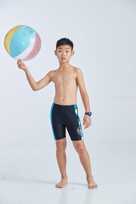 【  APPLE   】蘋果牌泳裝降價↘特賣~男童黑底藍白船錨膠印馬褲    NO.108208