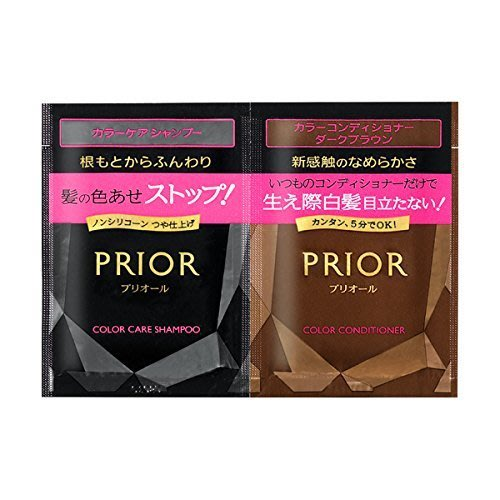 【東京速購】日本代購~日本資生堂 PRIOR 咖啡色 洗髮乳12ml 染髮潤髮乳16g