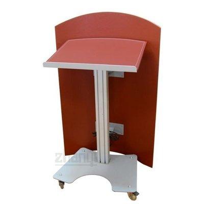 【尼克放心】展藝 移動型講桌 - ZY-671 移動式講桌(紅色編織皮)