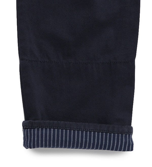 timberland 當季藍色Echo Lake 反摺斜紋褲 A11S8019