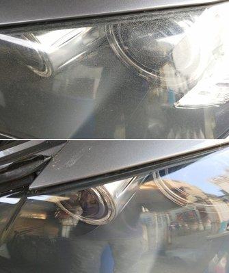 大燈快潔現場施工 BMW 寶馬 X5 E70 原廠大燈泛黃霧化修復翻新處理