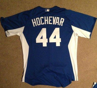 MLB KC ROYALS #44 LUKE HOCHEVAR GAME ISSUED BP JERSEY