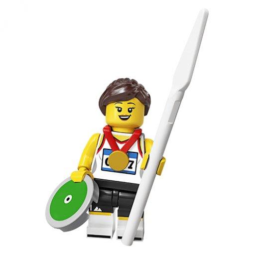 現貨【LEGO 樂高】積木/ Minifigures 人偶包系列: 20代 71027 | #11 奧運選手+金牌