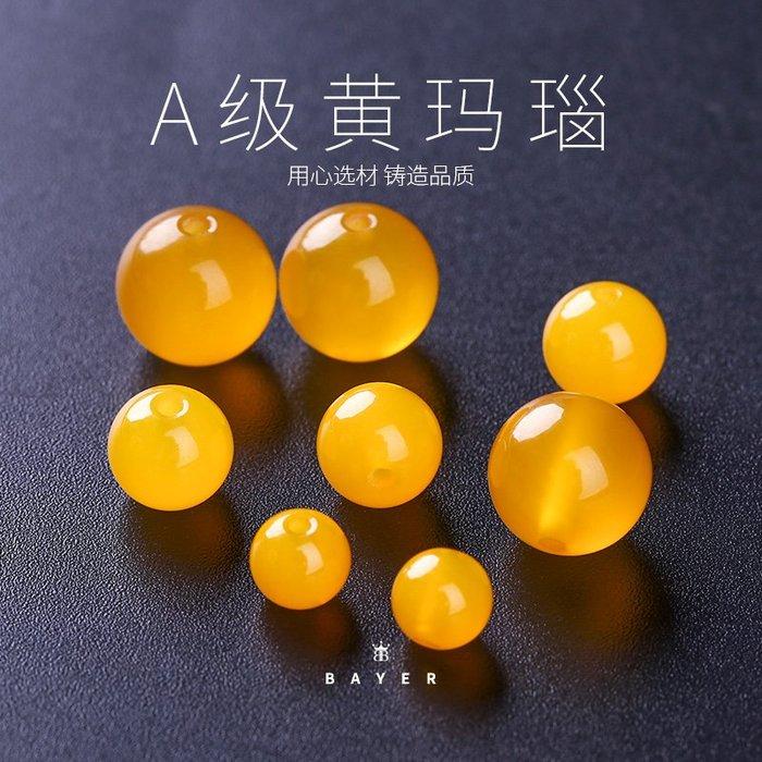 買多有優惠-黃瑪瑙散珠半成品串珠水晶圓珠DIY手工飾品配件材料手鏈串珠(規格不同價格不同)