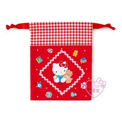 ♥小花花日本精品♥HelloKitty美樂蒂紅色粉色棉質束口袋迷你束口袋小物收納袋縮口袋99120306