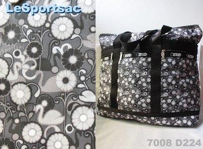 【LeSportsac】100% 全新正品 7008 D224 / NIGHT SWAN SONG 超大容量 側肩包 托特包 旅行袋 媽媽包