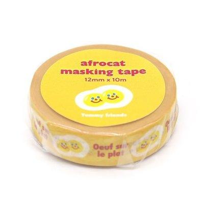 ❅PAVEE❅ 韓國afrocat~ Masking Tape 和紙膠帶~ 14 美味朋友 太陽蛋