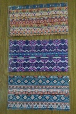 特殊民族風口罩3片合併包(拋棄式熔噴三層)限量