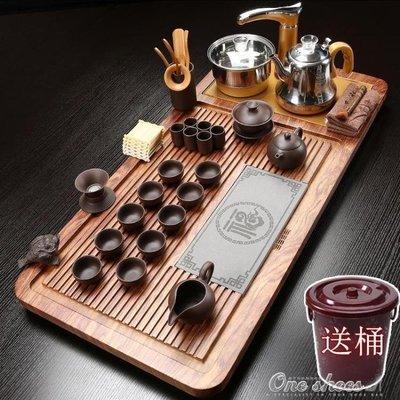 ZIHOPE 茶具套裝 ?茶具套裝家用整套陶瓷功夫茶盤實木喝茶全自動電磁爐茶道簡約ZI812
