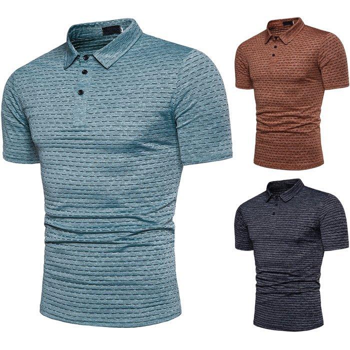 『潮范』 S5 條紋POLO衫 非洲風格酋長設計離子提花圖案POLO衫 時尚男式短袖POLO衫NRG792