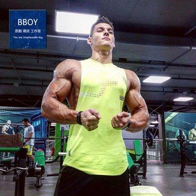 BBOY肌肉兄弟健身訓練彈力透氣運動背心