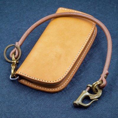 造夢師 手工製作  阿美咔嘰 復古 養牛 純黃銅 海軍鉤 牛皮皮繩財布鏈 鑰匙鏈 褲鏈 腰鍊