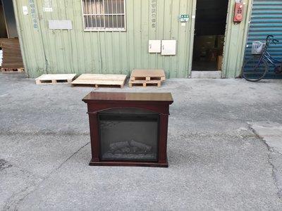 【安鑫】土城二手傢俱~23EF022GRA仿真動態火焰壁爐 電暖器 民宿 擺飾 電影道具~【A1116】