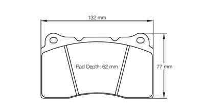 =1號倉庫= PAGID RSL1 來令片 煞車皮 Subaru STI EVO Brembo F50