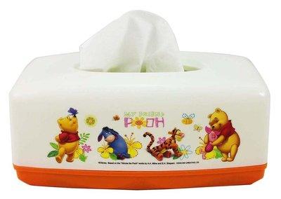 【卡漫迷】 小熊維尼 面紙套 白橘 ㊣版 面紙盒 桌上型 維尼熊 Winnie Pooh 台灣製 小豬 跳跳虎