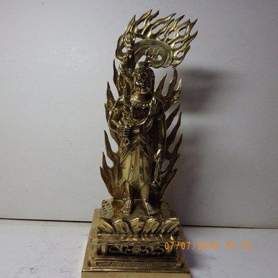 紫晶宮***銅精雕不動明王含背光約29公分***品質保證價格便宜