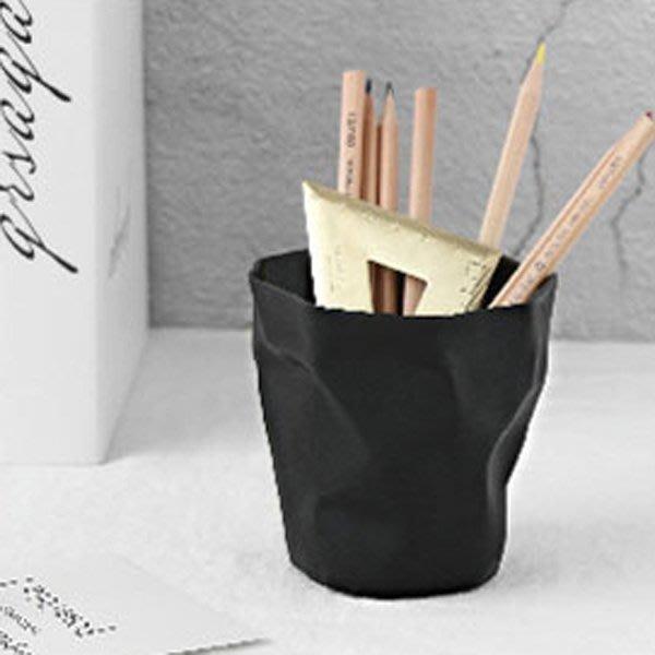 《Jami Honey》【JC3371】時尚創意皺褶筆筒 垃圾桶 (小號)