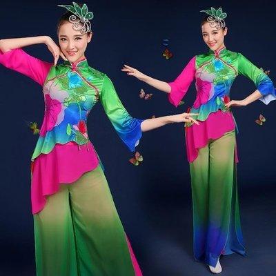 中老年扇子舞蹈服裝傘舞廣場舞古典舞演出服成人女jy