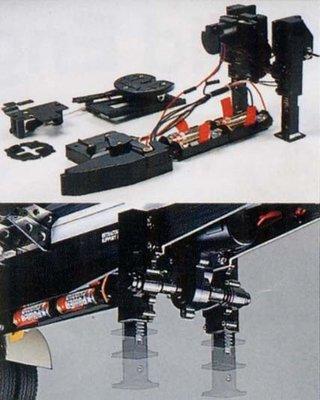 【TAMIYA 56505】大卡車OP·SP零件 1/14 RC RC Motorized Support Legs 拖車用自動腳架組 (送電池)