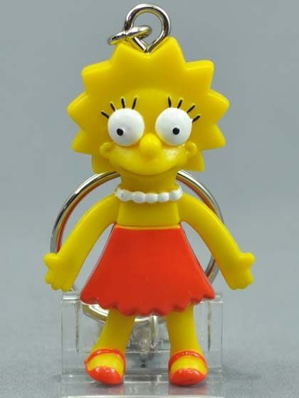 (I LOVE樂多)日本進口 辛普森家族Simpson 點子鑰匙圈 送人自用兩相宜