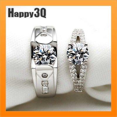 仿真鑽石戒指S925銀戒婚戒指求婚戒指...