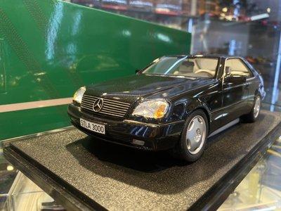 吉華科技@Cult Mercedes-Benz S Class 600 SEC C140 Black 1/18