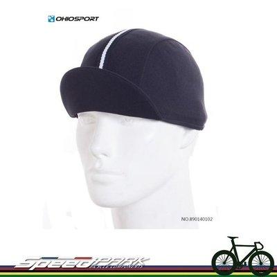 【速度公園】OHIOSPORT 單車小帽/黑底黑白黑條紋/DEEP COOL吸濕排汗布/單尺寸/布帽 890140102