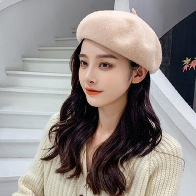 貝雷帽女秋冬季韓版日系百搭羊毛呢蓓蕾帽英倫冬天復古畫家帽子潮