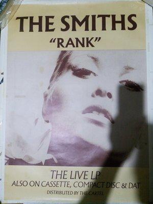The Smiths 史密斯樂團解散一年後的唯一演唱會專輯 Rank 海報,張貼過膠帶痕 有漬痕 poster