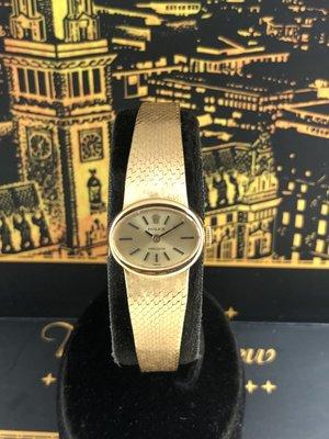 勞力士ROLEX 18K金 手動上鍊機械古董女錶